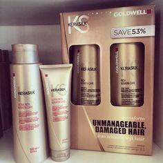 #goldwell #kerasilk #shampoo #conditioner #treatment