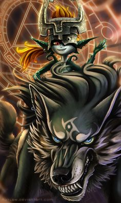 The Legend of Zelda | Link and Midna by Autlaw (Anouk)