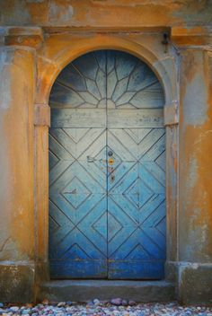 faded blue door in Bergamo, Italy. ingephotography If you have any questions at all about windows or doors, feel free to contact us - just answers, no sales (unless that's what you're asking for :-) Cool Doors, Unique Doors, Portal, Entrance Doors, Doorway, Door Knockers, Door Knobs, When One Door Closes, Closed Doors