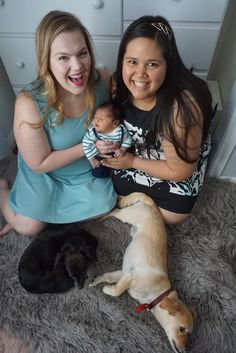 Lesbian newborn photo session with doggies in nursery best of lesbians phot Parenting Teenagers, Parenting Styles, Parenting Humor, Lesbian Photography, Lesbian Moms, Cute Family, Family Pics, Children Images, True Friends