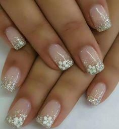 Nägel Ideen - Pastell 20 best models of wedding nails page 1 nails Wedd Wedding Nails For Bride, Bride Nails, Wedding Nails Design, Bridal Nails Designs, Nail Wedding, Bridal Nail Art, Perfect Nails, Gorgeous Nails, Stylish Nails