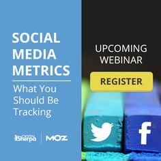 Free Upcoming Webinar!   Social Media Metrics: What You Should Be Tracking  Register Today: http://content.digitalsherpa.com/social-media-metrics-webinar
