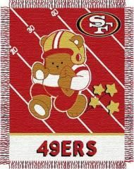 "49ers baby 36""x 46"" Triple Woven Jacquard Throw (NFL) NFL Style 044 -49ers"