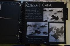 ROBERT CAPA. i studied this artist to benefit my shutter speed understanding.