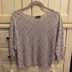 Sheer Wet Seal Top No size on top, but fits like a small. Sheer top with sparkle. Make an offer :) Wet Seal Tops