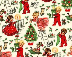 christmas eve from michael miller - Vintage Christmas Fabric
