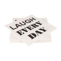 Servetten laugh every day set van 20