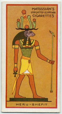 Heru-Shefit (Her-Shefit). From New York Public Library Digital Collections.