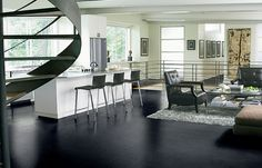 World's first eco-engineered leather flooring – by Carpet Design Centre.