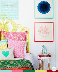 (via Bright.Bazaar: Colour Palette: Multi-Coloured Bedroom)