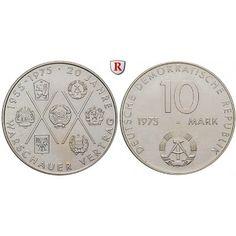 DDR, 10 Mark 1975, Warschauer Pakt, vz, J. 1557: Kupfer-Nickel-10 Mark 1975. Warschauer Pakt. J. 1557; vorzüglich 3,50€ #coins