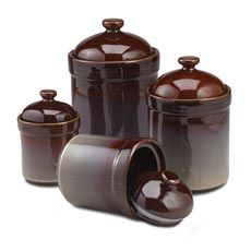 Delightful Nova Brown Canisters (Set Of 4)