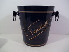 Vogalu FEUILLATTE Champagne Wine Ice Bucket 70310 Cobalt Blue Gold - France