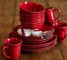 Cambria Dinnerware - Red | Pottery Barn