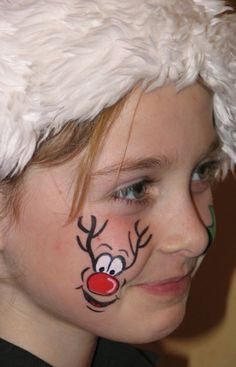 basic set up as our face painting page but with christmas themed faces Face Painting Designs, Paint Designs, Body Painting, Christmas Face Painting, Christmas Paintings, Tinta Facial, Cheek Art, Bodysuit Tattoos, Child Face