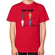 Same Crime Unisex T-Shirt (on man)