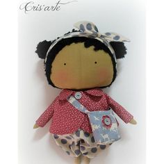 Cute tilda sweetheart doll....she's got hair!