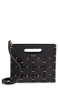 a939261f9 KATE SPADE MEDIUM CELIA LEATHER TOP HANDLE SATCHEL - BLACK. #katespade #bags  #shoulder bags #hand bags #leather #satchel #metallic