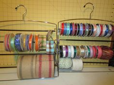 Finally organized my ribbons and twine
