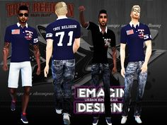 Polo Shirts Men by emagin360 at TSR via Sims 4 Updates