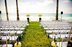 Gorgeous backdrop for a Wedding Ceremony at the Scripps Seaside Forum.