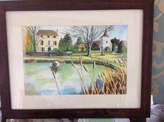 Otford pond in watercolour