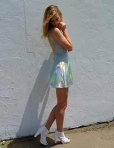 Holographic Dress with Open Back by HomeCookedKarma on Etsy, $90.00