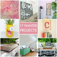17 Painted Projects! So many pretty ideas for your home! -- Tatertots and Jello