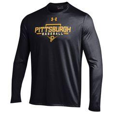Pittsburgh Pirates Under Armour Tech Long Sleeve T-Shirt - Black