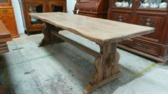 Light French Oak Dining Table - French Antiques Melbourne | English Antiques Melbourne | Moonee Ponds Antiques