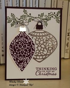 Windy's Wonderful Creations: Embellished Ornaments in Purple and Silver