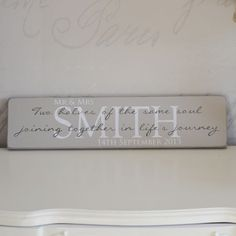 Handmade Wooden Signs | Gracie Jacques | Soulmates Wooden Sign