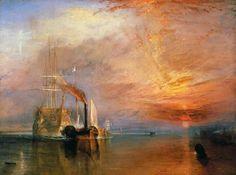 El Temerario remolcado a su último atraque al desguace (XIX) Turner. Romanticismo