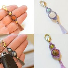 макраме Macrame Rings, Macrame Necklace, Macrame Jewelry, Macrame Bracelets, Boho Jewelry, Macrame Earrings Tutorial, Beaded Bracelet Patterns, Macrame Tutorial, Earring Tutorial