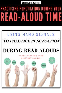 Practicing Punctuation During Your Read Aloud Time - Young Teacher Love 5th Grade Classroom, Middle School Classroom, High School, Guided Reading Lessons, Math Lessons, Teacher Blogs, Teacher Hacks, Punctuation Activities, Grammar Sentences