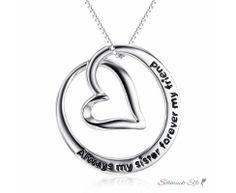 Anhänger Herz  Amulett  Always my sister forever my...