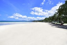 Sabang Beach - Sheridan Beach Resort and Spa, Palawan fronts onto this gorgeous white sand beach.