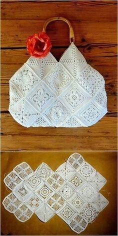 """The location where building and construction meets style, beaded crochet is the act of using beads to decorate crocheted products. """"Crochet"""" is derived fro Crochet Lamp, Crochet Cushion Cover, Crochet Clutch, Crochet Handbags, Crochet Purses, Bead Crochet, Modern Crochet Patterns, Crochet Designs, Sac Granny Square"""