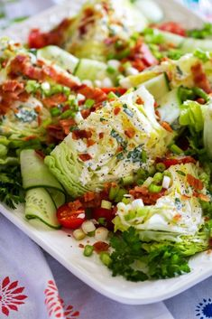 Wedge Salad with Buttermilk Ranch Dressing - Chips & Pepper Salad Recipes, Healthy Recipes, Healthy Dinners, Healthy Habits, Buttermilk Ranch Dressing, Wedge Salad, Homemade Buttermilk, Spring Salad, Spring Recipes