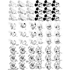 "the-disney-elite: "" Kali Fontecchio's mouth charts + character designs for the Mickey Mouse shorts The Adorable Couple and O Futebol Classico "" Cartoon Art Styles, Cartoon Sketches, Disney Sketches, Cartoon Design, Disney Drawings, Retro Cartoons, Old Cartoons, Vintage Cartoon, Mickey Mouse Design"