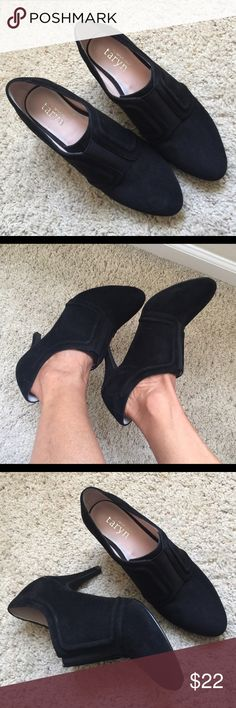 Taryn Rose Tryna Black Suede boots Stunning soft suede perfect heel, size 7, excellent condition Taryn Rose Shoes Ankle Boots & Booties