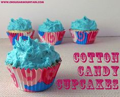 Cotton Candy Cupcakes Recipe (Ha! Shauna Tadrick, this made me think of you!)