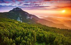 500px / Sunrise in Ceahlau by Adrian Petrisor. Bucegi Mountains - Romania