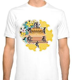 Collaboration between Buddhism and Japanese pattern T-shirt by Japanese Patterns, Traditional Japanese, Buddhism, Posters, Colorful, Mugs, Pillows, Search, Mens Tops