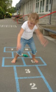 """""""For kids, it feels good to move, and when it feels good, they want to do it over and over again... just as the rules of Hopscotch require."""""""