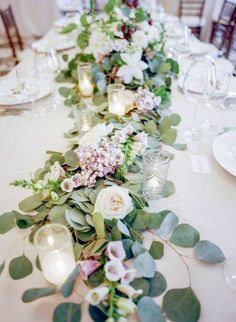 Image result for head table decor greenery