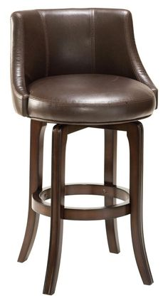 Hillsdale - Napa Valley Swivel Counter Stool - Brown Upholstery