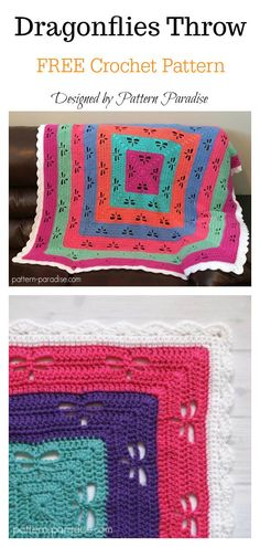 Radiating Dragonflies Throw FREE Crochet Pattern You are in the right place about crochet patterns Here we offer you the most beautiful pictures about the crochet patterns videos you are looking for. Crochet Afghans, Crochet Baby Blanket Beginner, Afghan Crochet Patterns, Free Crochet, Knitting Patterns, Crochet Blankets, Baby Blankets, Chevron Crochet, Beginner Crochet