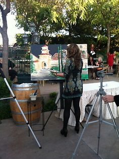 Live Event Painting at the 2013 Reality Rally at South Coast Winery in Temecula.