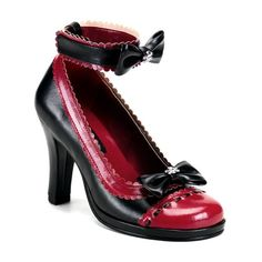 Buy Gothic Lolita Shoes=Demonia by Pleaser Women's Glam- Pump at Wish - Shopping Made Fun Goth Shoes, Lolita Shoes, Lolita Dress, Black Shoes, Women's Shoes, High Heel Pumps, Pumps Heels, Platform Pumps, Burgundy Pumps